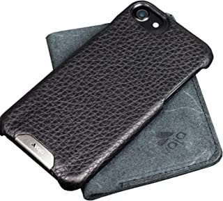 Vaja Grip iPhone 7 Leather Case - Four Corner Protection - front Lip - Floater Black
