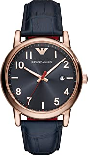 Emporio Armani Mens Analogue Quartz Watch with Leather Strap AR11135