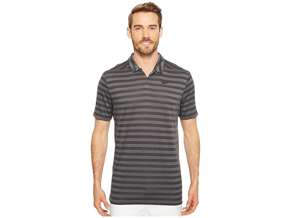 Nike Golf Breathe Stripe Polo OLC (Dark Grey/White) Men