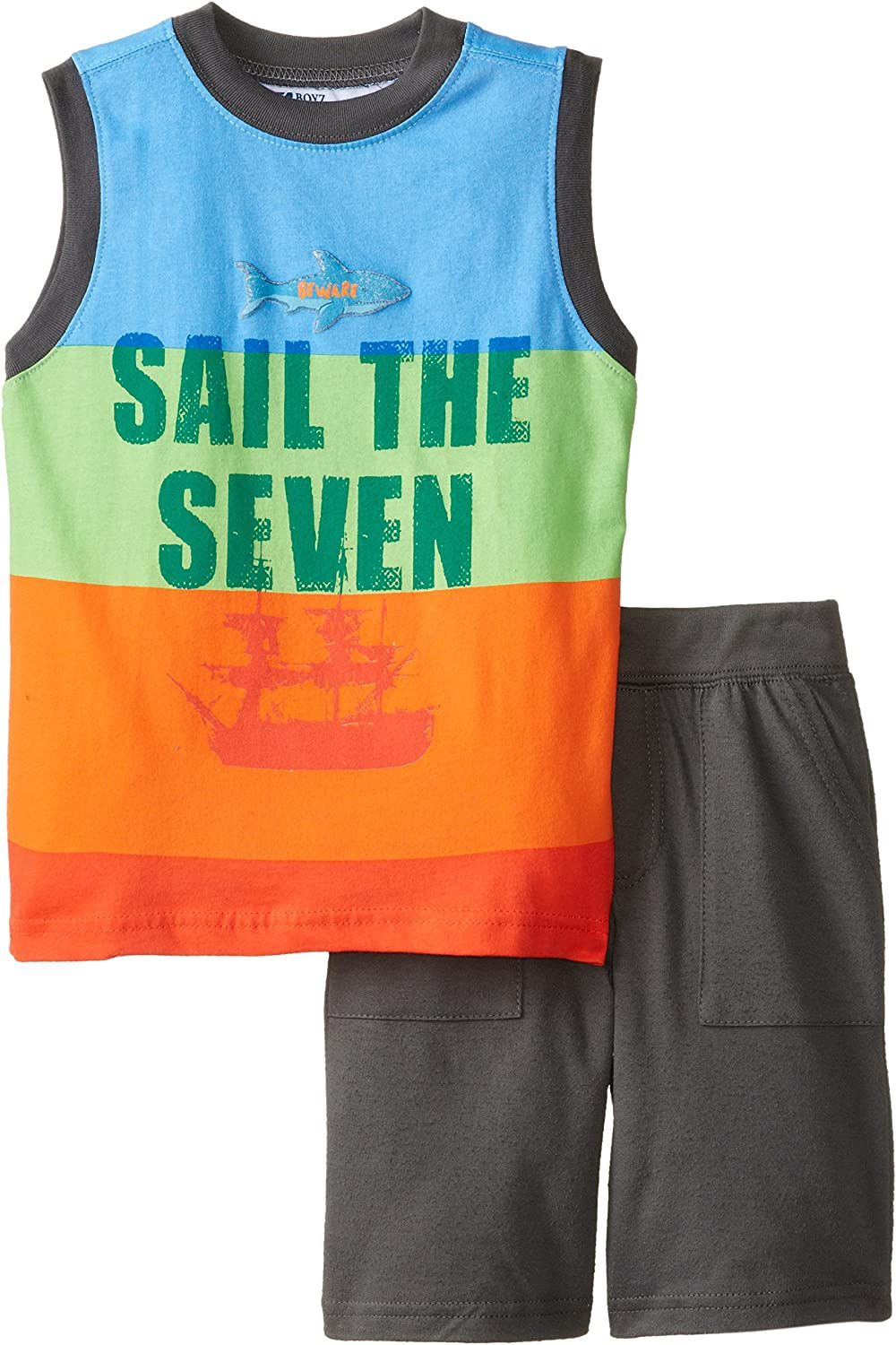 Nannette Little Boys' 2 Pieced Sail The Seven Tank and Short