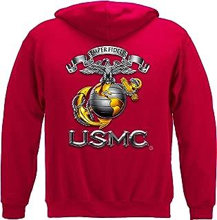 Erazor Bits Marine Corps Hooded Sweat Shirt USMC-Semper Fidelis MM118SW