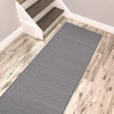 Amazon Com Kapaqua Solid Grey Runner Rug Non Slip Rubber Backed Pet Friendly 2x4 Kitchen Hallway Carpet Runner Kitchen Dining