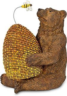 "Abbott Collection 27-WINNIE-280 Bear w/Beehive & Bee-BRN-7"" H, Brown"