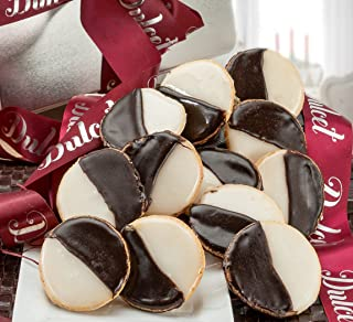 Dulcet Gift Baskets Black and White Cookies Favorite Gift Tin, Great For Holiday Celebrations-Get Well and Sympathy Wishes For Men and Women.