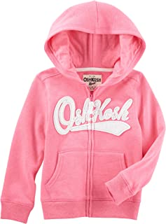 Girls' Toddler Full Zip Logo Hoodie, Pink, 4T