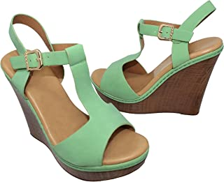 2a7bd4eee5b68 Amazon.com: Green - Platforms & Wedges / Sandals: Clothing, Shoes ...