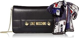 Love Moschino Borsa con tracolla in PU con catenella estraibile colore oro.Chiusura borsa con patta e bottoni magnetici. 1...