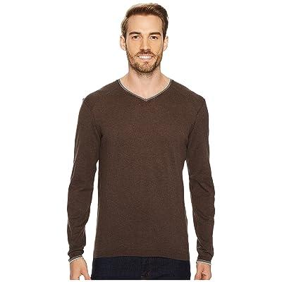 Agave Denim Fin Long Sleeve V-Neck 14GG Sweater (Shale) Men
