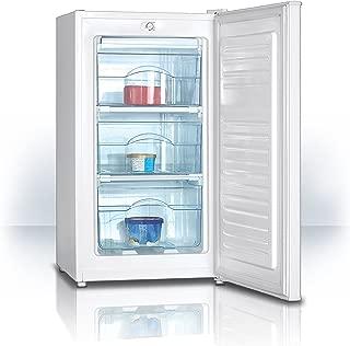 39 dB Klarstein Garfield XXL Congelatore Altezza Regolabile Freezer Volume 81 Litri Nero 3 Cassetti Trasparenti Termostato a 3 Livelli Classe A+