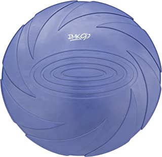 IMK9 Dog Flying Disc Toy - for Small, Medium, or Large Dogs - Soft Natural Rubber Disk for Safety - Best Color Toys for Dogs to See - Heavy Duty, Aerodynamic Design for Outdoor Flight