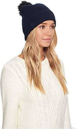 UGG - Luxe Cuff Hat w/ Oversized Toscana Pom