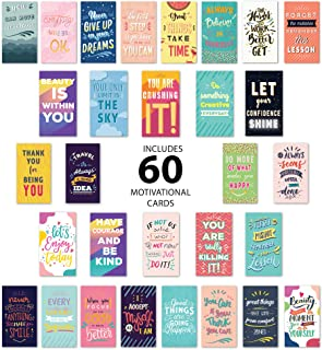 Avamie 60 Pack Motivational Lunch Box Notes for Adults, Husband, Wife- Inspirational and Motivational Lunch Box Notes Card...