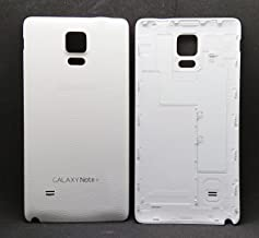 (md0410) White back door rear battery housing cover replacement Compatible Galaxy Note 4 N910 N9100