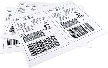 ChromaLabel 8.5 x 5.5 inch Half Sheet Shipping Labels for Laser and Inkjet Printers (50 Sheets/100 Labels)