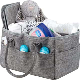 Baby Diaper Caddy Portable Diaper Tote Nursery Storage Caddy Changing Pad