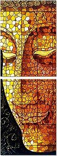 PAPER PLANE DESIGN Wall Art Digital Religious Painting Buddha Multiple Frame Multicolour Framed 5mm Board Self Adhesive (8...