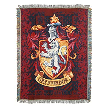 Harry Potter Woven Tapestry Throw Blanket, 48 x 60 Inches, Gryffindor Shield