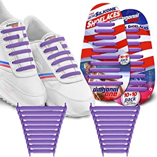 43eab054b57e Diagonal One No Tie Shoelaces for Kids   Adults.The Elastic Silicone Shoe  Laces to