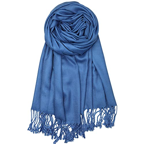 d3b48b8e9bc53 Achillea Large Soft Silky Pashmina Shawl Wrap Scarf in Solid Colors