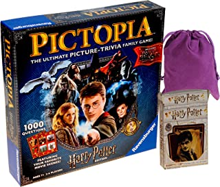 Pictopia Harry Potter Ultimate Trivia Game    Bonus Harry Potter Harry Playing Cards    Bonus Purple Drawstring Pouch    Bundled Items