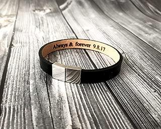 Personalized Hidden Message Bracelet, Personalized Leather bracelet Mens Bracelet Womens Bracelet, Custom Secret Message