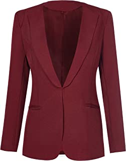 Aodrusa Womens Blazers Casual Suit Plaid Jackets Coat with Pockets for Work Professional Vintage Outfits Tops