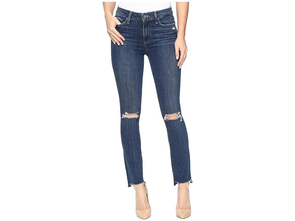 Paige Hoxton Ankle Peg w/ Uneven Hem in Dedee Destructed (Dedee Destructed) Women's Jeans, Blue
