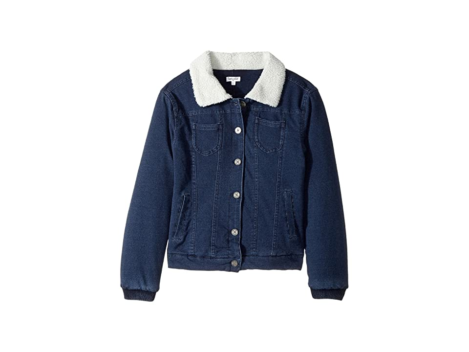 Splendid Littles Baby French Terry Sherpa Jacket (Big Kids) (Indigo) Girl
