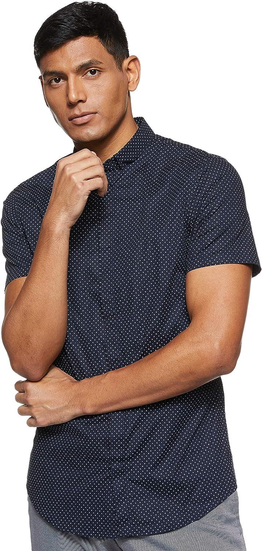 AX Armani Exchange Men's Short-Sleeve Cotton Button Down