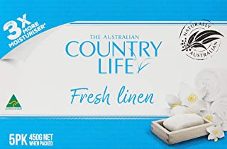 Country Life Fresh Linen Bar Soap 5 Pack