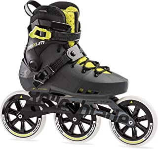 Rollerblade Maxxum Edge 125 3WD Unisex Adult Fitness Inline Skate, Metallic Grey and Lime, Premium Inline Skates