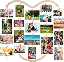 EASTERNSTAR Photo Hanging Display for Wall, DIY Photo Collage Frame Board Multi Picture Hanging Board with 30 Clips 29.1 X...