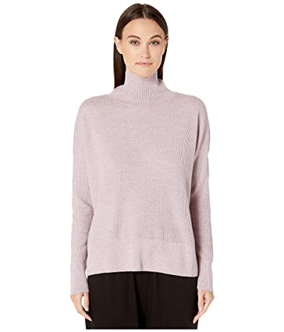 Eileen Fisher Merino Waffle Stitch Funnel Neck Box-Top (Sachet) Women