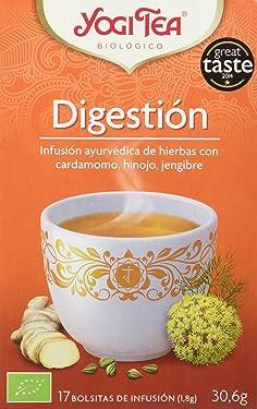 Yogi Tea Infusión de Hierbas Digestion - 17 bolsitas - [pack de 3]
