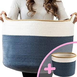 Little Hippo 2pc XXXL Large Cotton Rope Basket (22