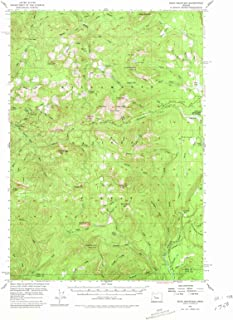 Oregon Maps - 1955 Echo Mountain, OR USGS Historical Topographic Map - Cartography Wall Art - 33in x 44in