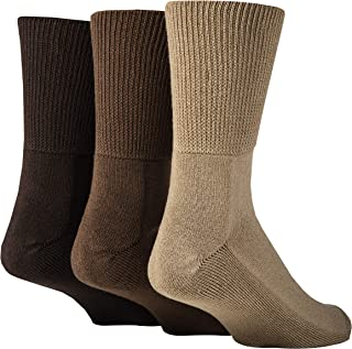 IOMI Footnurse - 3 Pack Unisex Extra Wide Bamboo Diabetic Socks   4 Sizes   For Swollen Feet & Legs   Smooth Toe Seam   Cu...