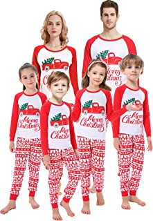 Matching Family Christmas Boys Girls Pajamas Striped Kids...