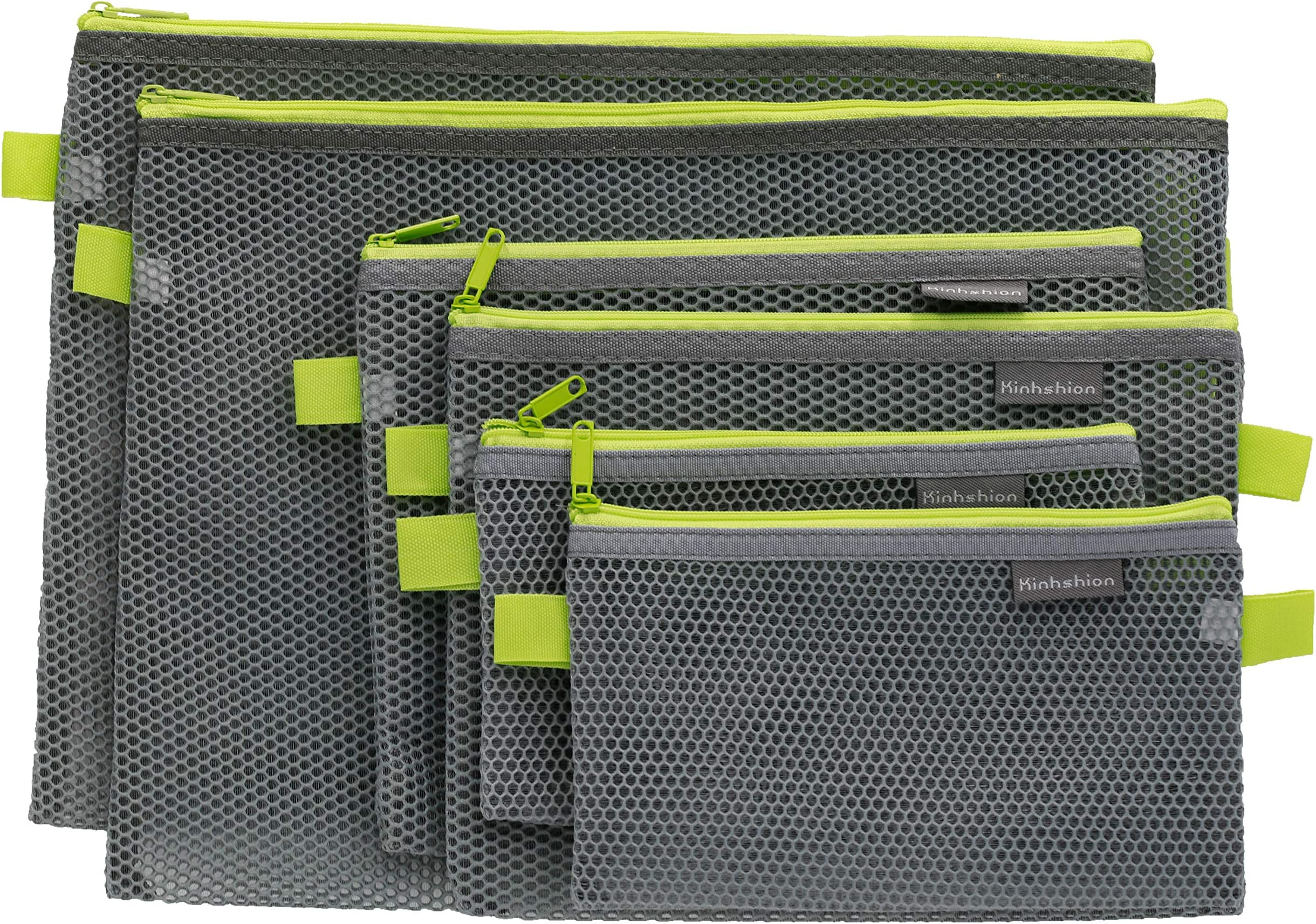 Neat and Tidy Zippered Pouch Navy Green