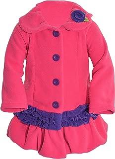 Mack & Co. Girls' Hot Cocoa Fleece Coat-hot Pink