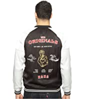 nANA jUDY - The Originals Satin Bomber Jacket with Embroidery