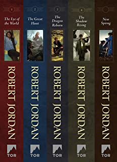 The Wheel of Time, Books 1-4: (The Eye of the World, The Great Hunt, The Dragon Reborn, The Shadow Rising, New Spring: The Novel)