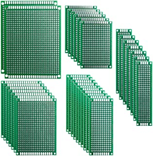 Haobase 32pcs PCB Prototype Printed Circuit Board Double Sided for Arduino Board DIY 5 Sizes [2X8cm 3X7cm 4X6cm 5X7cm 7X9cm]