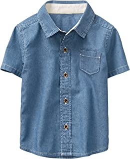 Boys' Short Sleeve Printed Button Down Woven Shirt