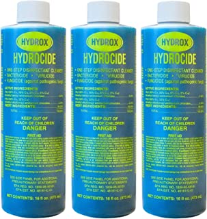 Hydrox Hydrocide One-Step Disinfectant Cleaner, 16 Ounce (Pack of 3)