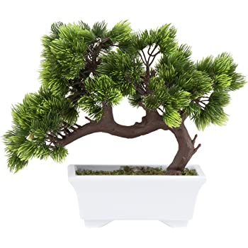 Fake Plant Decoration Japanese Pine Bonsai Plant for Home Office Decoration Desktop Display Potted Artificial House Plants YOTHG Artificial Bonsai Tree Type 1 Zen Garden D/écor