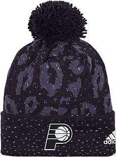 best website db3fa 815ff adidas NBA Women s Black Out Print Cuffed Knit Beanie