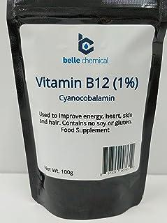Vitamin B12 (Cyanocobalamin) 1% Pharmaceutical Grade (100 Grams)