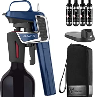 Coravin Model Two Elite Pro - Wine Preservation System, Gloss White, Midnight Blue