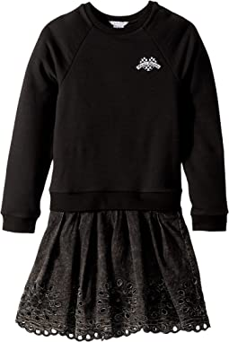 Little Marc Jacobs - Two-Piece Dress with Embroideries Details (Big Kids)